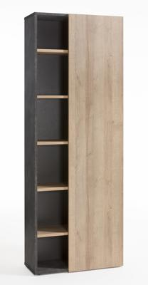 Asti Tall Storage Unit -  Oak and Grey Finish