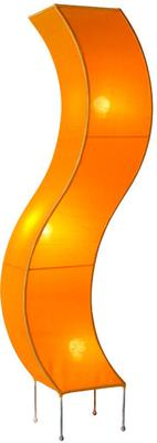 Silk 'S' Shaped Floor Lamp, Orange