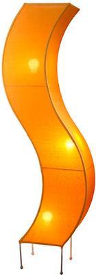 Silk 'S' Shaped Floor Lamp, Orange image 2