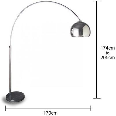 Large Chrome Arch Floor Lamp image 2