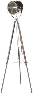 Chrome Spotlight Tripod Floor Lamp