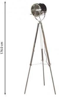 Chrome Spotlight Tripod Floor Lamp image 2