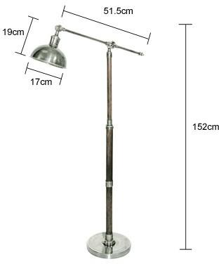 Metal Floor Lamp Teak and Steel image 2