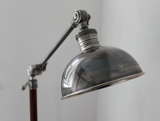 Metal Floor Lamp Teak and Steel image 4