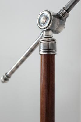 Metal Floor Lamp Teak and Steel image 5