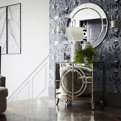 Turner Antique Silver Floor Lamp Empire Column image 2