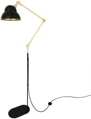 Sliema Modern Floor Lamp Adjustable Black and Brass