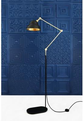 Sliema Modern Floor Lamp Adjustable Black and Brass image 2