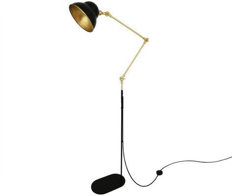 Sliema Modern Floor Lamp Adjustable Black and Brass image 3