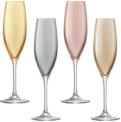 LSA Set of 4  Polka Champagne Glasses - Metallic image 2