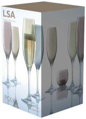 LSA Set of 4  Polka Champagne Glasses - Metallic image 4