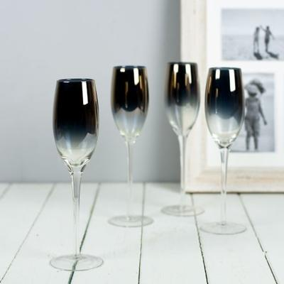Gold Plated Champagne Flutes Set Of Four
