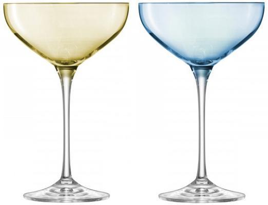 LSA Polka Champagne Saucers - Pastels - Set of 4 image 3