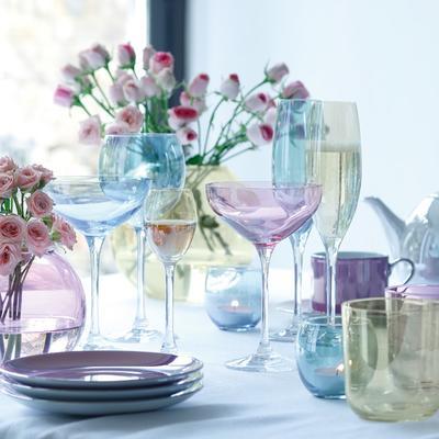 LSA Polka Champagne Saucers - Pastels - Set of 4 image 4