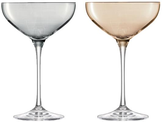 LSA Polka Champagne Saucers - Metallic - Set of 4 image 2
