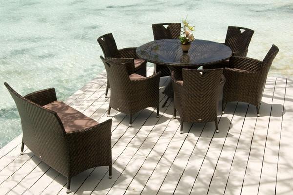 Ohanna Ocean Wave Outdoor Table