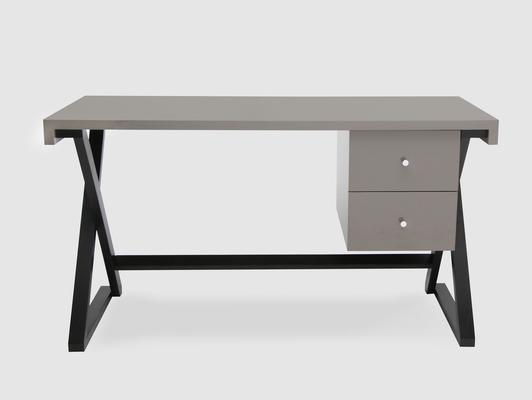 Alpha Desk - Taupe High Gloss