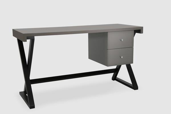 Alpha Desk - Taupe High Gloss image 2