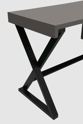 Alpha Desk - Taupe High Gloss image 3
