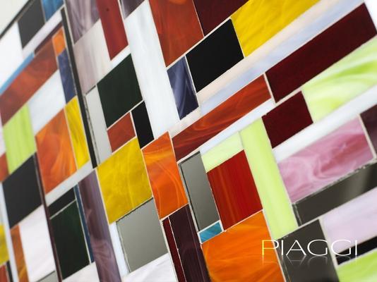 Disco PIAGGI glass mosaic mirror image 3