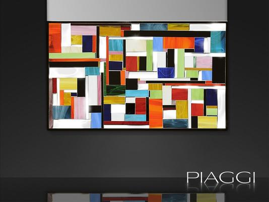 Disco PIAGGI glass mosaic mirror image 4