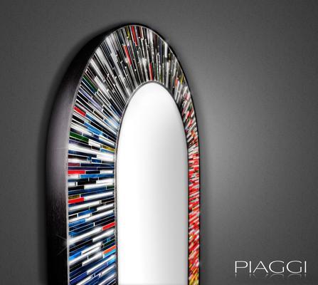 Stadium multicolour PIAGGI glass mosaic mirror image 2