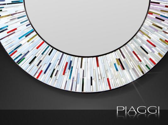 Stadium multicolour PIAGGI glass mosaic mirror image 4