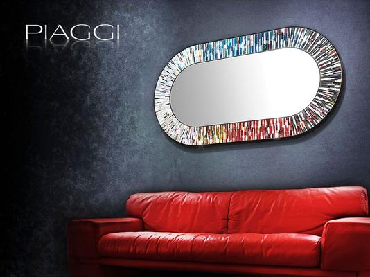 Stadium multicolour PIAGGI glass mosaic mirror image 5