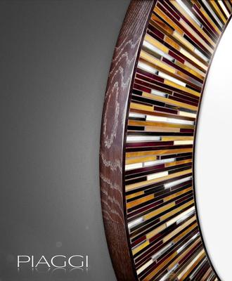 Roulette brown PIAGGI glass mosaic mirror image 2