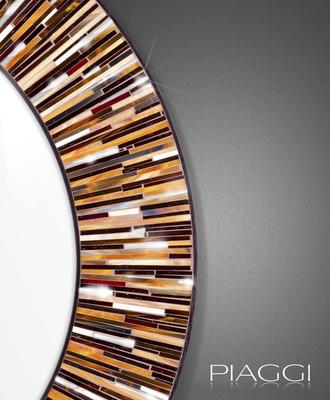 Roulette brown PIAGGI glass mosaic mirror image 4