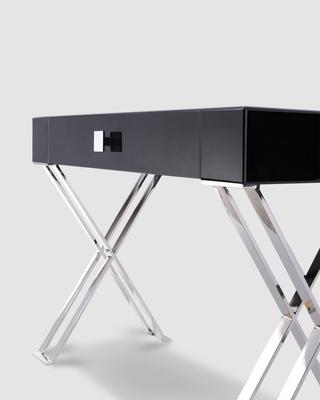 Richmod Black Glass/Polished Stainless Steel Dressing/Console Table image 4