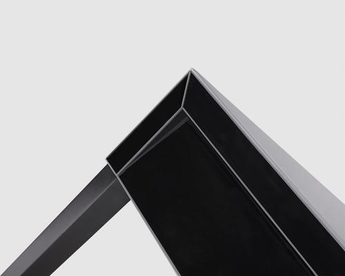 Pure Black Glass/Black Painted Legs Beside Table image 6
