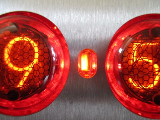Contemporary Stainless Steel Nixie Clock - Red Edition image 2