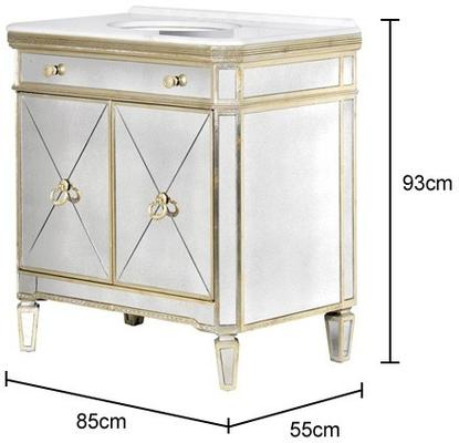 Venetian Mirrored Vanity Unit Antique Gold image 2