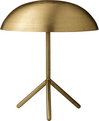 Tripod Domed Tablelamp with Brushed Gold Finish image 2