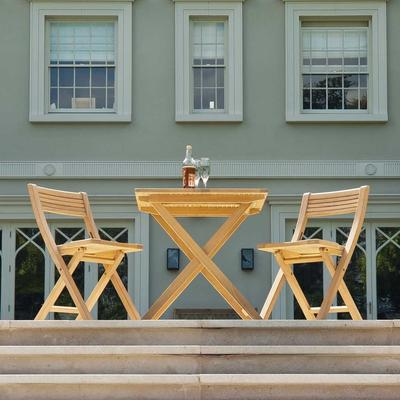 Roble Folding Patio Set for Two