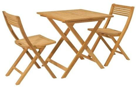 Roble Folding Patio Set for Two image 2