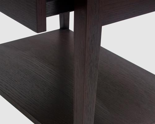 Sina Wenge Oak Beside Table image 6