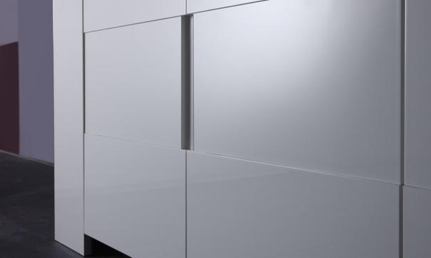 Fano Four Door Sideboard - White High Gloss image 2