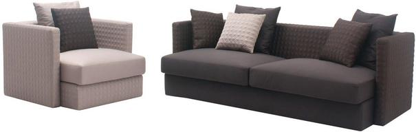 Asana 3 Seat Dark Grey Fabric Sofa
