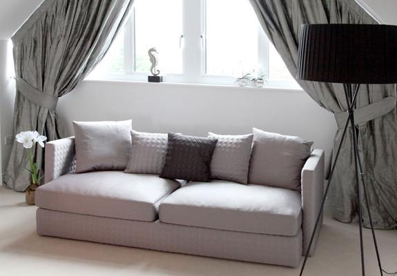Asana 3 Seat Dark Grey Fabric Sofa image 2