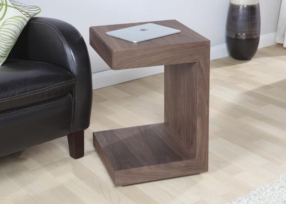 Jual Block Utility Side Table Italian Design - Walnut