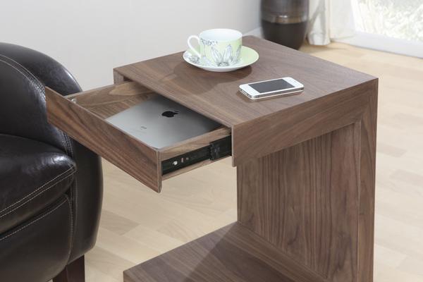 Jual Block Utility Side Table Italian Design - Walnut image 2