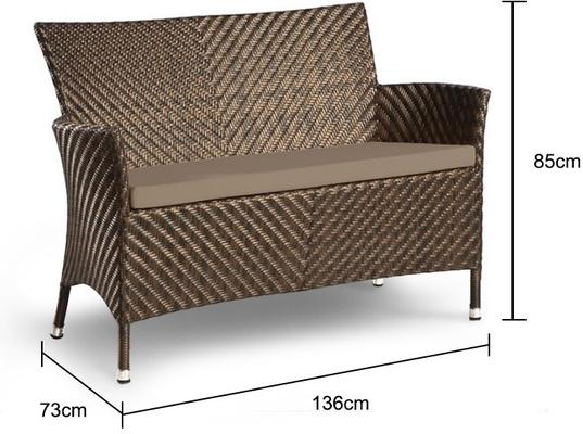 Odelia Ocean Wave Outdoor Bench image 2