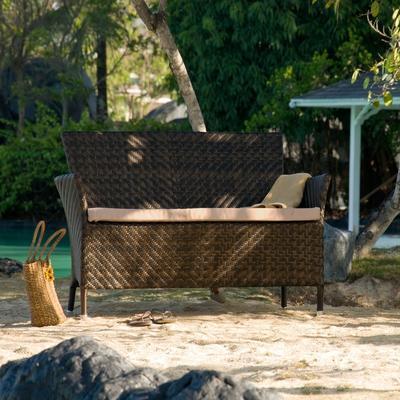 Odelia Ocean Wave Outdoor Bench image 4