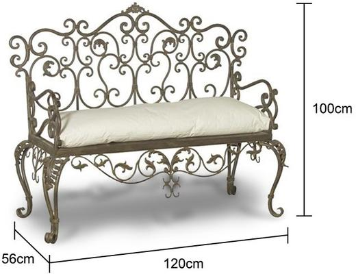 Wrought Iron Bench image 2