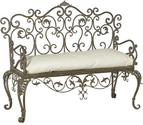 Wrought Iron Bench image 3