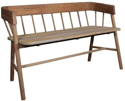 Teak Painted Garden Bench image 7