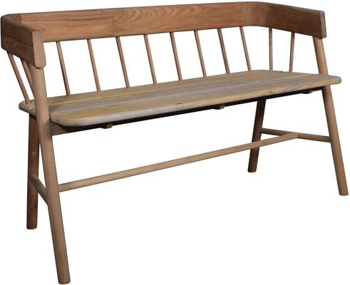 Teak Painted Garden Bench image 8