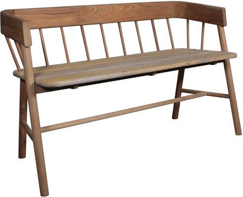 Teak Painted Garden Bench image 8
